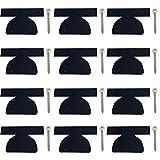 AMF Life Filz Bodenschoner 12er Set, Farbe wählbar, Kantenschutz für Bierzeltgarnitur, Festzeltgarnitur schwarz Klammer