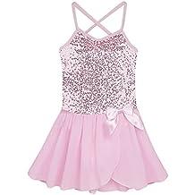 iEFiEL Vestido de Danza Ballet Tutú Vestido Elegante Brillante de Princesa con Braguita Interior para Niña