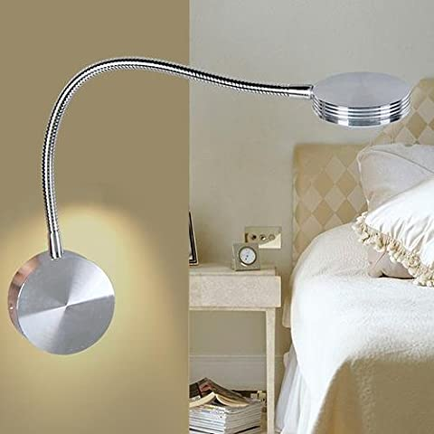 Wall Lamp Metal Hose Aluminum Alloy Round LED Bedside Lights 1w , warm light