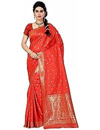 Inheart Women's Tassar Silk Saree With Unstiched Blouse Piece, Women's Clothing Saree For Women Latest Design...