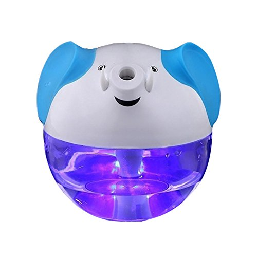 XZANTE Humidificador USB Purificador de Aceite Esencial de Aire ultrasonico Elefante portatil Difusor de Aroma (Blanco)