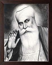 Art n Store: Gurunanak Dev High Contrast HD Printed Poster Painting with Frame (Acrylic Sheet MDF Board, 30 X