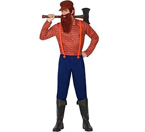 Atosa - 26306 - Disfraz Leñador- talla M-L - Color Rojo para Hombre Adulto