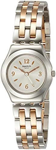 Swatch Women's Silver Dial Stainless Steel Band Watch - YSS308G, Two