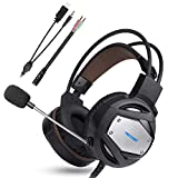 TeckNet Gaming Headset For Ps4 Xbox One 3.5Mm Stereo Over-Ear Gaming Headphone Headband With Noise Cancelling Mic & Volume Control For Pc, Xbox One, Ps4, Mac, Laptop, Mobile Phones