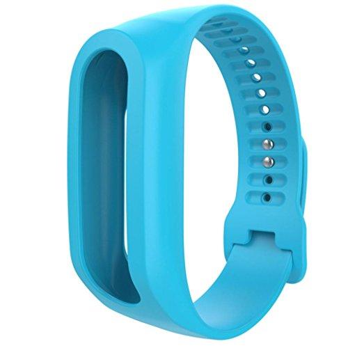 Für TOMTOM TOUCH CARDIO FITNESS TRACKER Transer® Ersatz Silicagel Uhrenarmband Schwarz Blau Grün Pink Orange Lila Rot Gelb Replacement Watch Strap Band: 19cm-24cm (Blau)