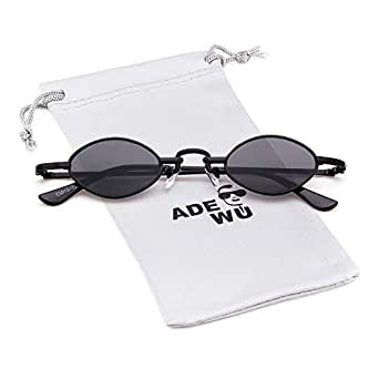 ADEWU Petites lunettes de soleil ovales Retro Vintage Glasses pour ... a15aa4da0ecc