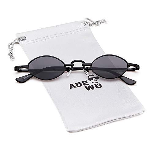 ADEWU Klein Oval Sonnenbrillen Retro Vintage Brillen Herren Damen