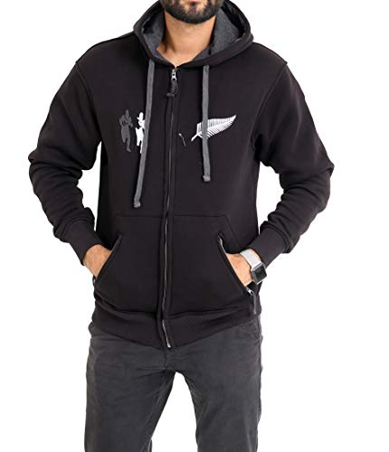 Brooklyn Clothing Rugby Hoodie Jackets Zip up Six Nations Hooded Long Sleeve Jumper M L XL XXL