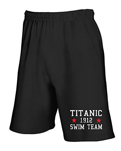 T-Shirtshock - Pantalone Tuta Corto TR0138 Titanic Swim Team T-Shirt, Taglia S