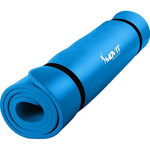 MOVIT Pilates Gymnastikmatte, Yogamatte, phthalatfrei, SGS geprüft, L 190cm x B 100cm, Stärke...