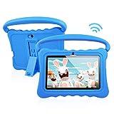 Tablettes pour Enfants avec écran Full HD Android 8.1 OS 7 Pouces Full HD pour Enfants 1 Go de RAM, 16 Go de Stockage, Tablette Wi-FI Quad-Core 1.3Hz Wi-FI avec boîtier Tout Neuf Soft Shock & Kid