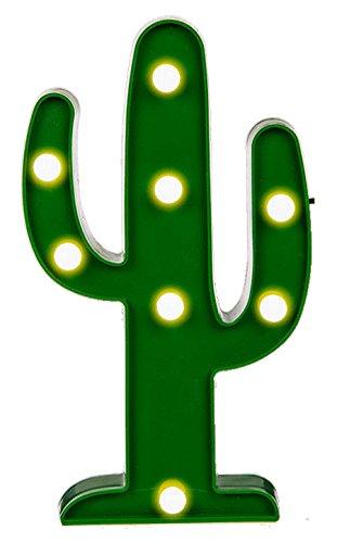 Unbekannt Cactus Kaktusleuchte mit LED-Funktion, Kunststoff, Mehrfarbig, 5x20x34 cm