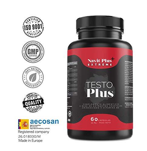 Testostérone formulée avec TESTOFEN + ginseng, zinc et maca • Testostérone naturelle BREVETÉE • Augmentation de la masse musculaire, performances sportives et force • ISO 9001 CERTIFIED • MADE IN UE