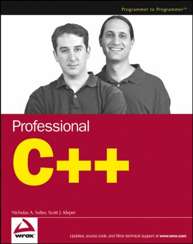 Professional C++ Programming (Programmer to Programmer)