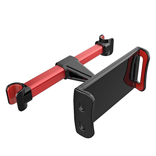 GJJ Kreative Handy Tablette Tablet Universal Auto Hinten Kissen Halterung - Auto Rücksitz Faulen Handy Halterung,rot,A