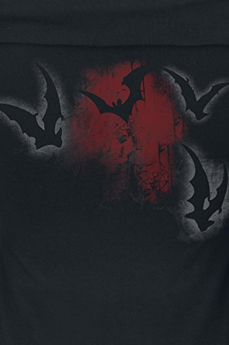 Alchemy England Bats Attack Girl-Longsleeve schwarz/rot Schwarz/Rot