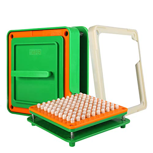 Wananfu - 100 agujeros Máquina de llenado de cápsulas 00, Usar con cápsulas vacías tamaño 00, Máquina de cápsulas tamaño 00, The Capsule Machine