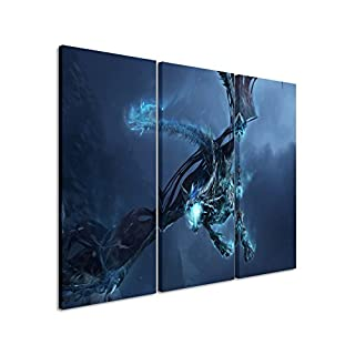 World of Warcraft Art Print _ Ice _ Dragon _ 3x60x30 cm (Total 100 x 60 cm) _ High Quality Stretcher Frame Art Print on Canvas As a Wall Picture with Stretcher Frame