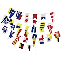 Brass Blessing U.S. Navy Bunting Signal Flags - Maritime/Marine/Boat/Yacht/Beach Party Nautical Decor: (40 Small Cotton Flag)