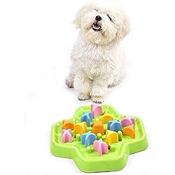 Awhao Comida Lenta Cuenco para Perro Lento Alimentador Interactivo Tazón de Juguete No Tóxico Duradero