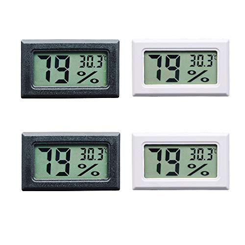 Thlevel 4X Mini LCD Digital Thermometer Temperatur Luftfeuchtigkeit Tester Hygrometer für Kühlschrank Aquarium -50°C~+70°C