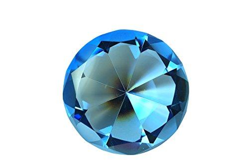 Kristall Juwel Briefbeschwerer by tripact-04, Blau, 4 in ()