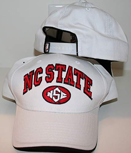 a State NC State Wolfpack Top White Sport Cotton Mens Baseball Hat/Cap Size Adjustable ()