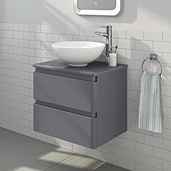 750 Vanity Unit With Vessel Basin For Bathroom Ensuite Cloakroom Wall Hung Soft Closing Luxury