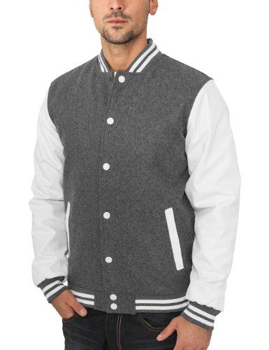 Urban Classics TB201 Herren Jacke Bekleidung Oldschool College Jacket Grey/White