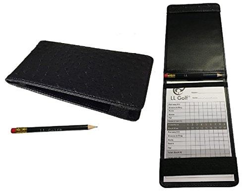 LL-Golf® Élégant de Golf Carte de Score Support avec stylo et Block/Housse/Étui/Pochette/etui/porte-documents/carte de score / scorecard holder