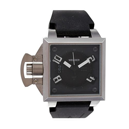 Coffret reloj Welder hombre K-25modelo Data negra y plateada–4401K25