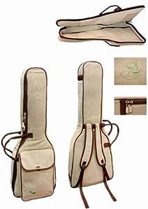 Coffre de rangement pour 4/4 kit de guitare de concert-pro natura- ökosiegel tissus canevas de haute qualité avec