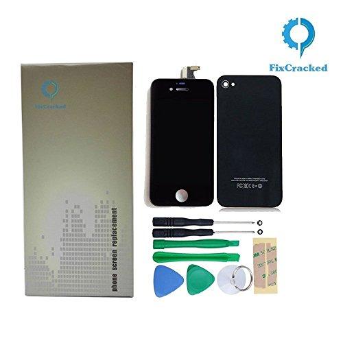 diger Zusammenbau + Werkzeug mit Touchscreen Digitalisierer Display, Front LCD Bildschirm, Rückseite Gehäuse, Home Button und Installation Tools für Apple iPhone 4(AT & T) GSM ()