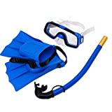 LIOOBO Snorkel Set, Diving Mask with Easy Ajustable Strap 180° Panoramic View