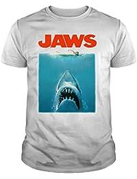 The Fan Tee Camiseta de NIÑOS Varios Peliculas Tiburon PELICULA Terror Retro Hispter Swag Jaws