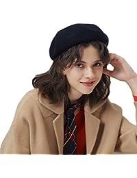 e59f313f6b519 Baijiaye Boina Francés de Mujer Invierno Vasco Boinas de Lana Gorro Beret  Beanie Cálido Sombrero de