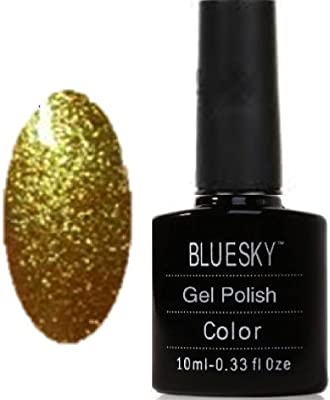 Bluesky UV/LED Gel Nail Polish, Frosty Gold Dust 10 ml