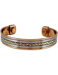Banithani de cobre puro Unisex Brazalete ajustable de la joyería Brazalete