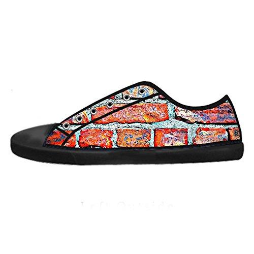 (Custom gemauerte Wand Textur Men's Canvas shoes Schuhe Lace-up High-top Sneakers Segeltuchschuhe Leinwand-Schuh-Turnschuhe)