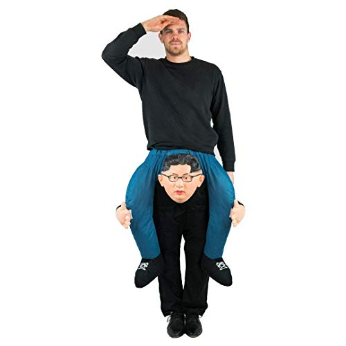 Kostüm Diktator - Bodysocks® Kim Jong-un Huckepack (Carry Me) Kostüm für Erwachsene