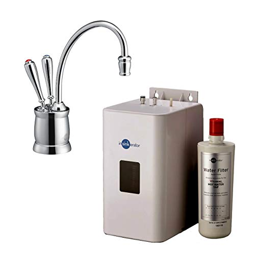 Insinkerator F-HC2215C Chrome Instant Hot & Filtered Cold Water Tap with The Tank and Filter Kit