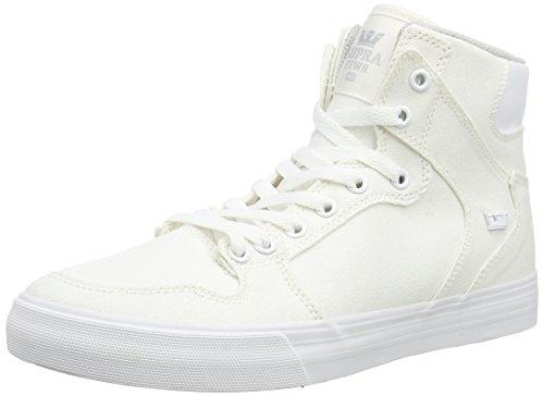 Supra SupraVAIDER D - Sneaker Alta Unisex – Adulto Bianco (Weiß (OFF WHITE - WHITE OWT))
