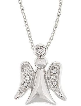 °*Halskette mit Engel-Anhänger und Swarowski-Kristallen