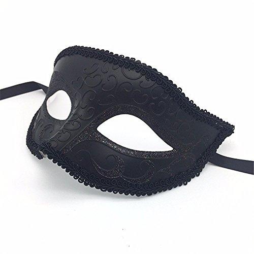 T-KMMK Mask SpitzeMaskerade High-End-grünen Kunststoff Halbe Gesichtsmaske Party Männer und Frauen Halloween Brille (High End Halloween Kostüme)