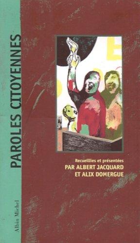 Paroles citoyennes par Albert Jacquard