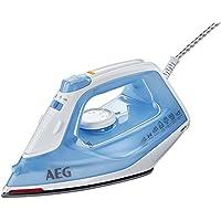 AEG Dampfbügeleisen EasyLine DB 1730 (2300 Watt, 100g Dampfstoß, SoftGlide Keramiksohle, Restwärmeanzeige, Anti-Kalk System) blau/weiß