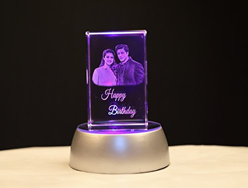 Fusion Crystals Personalized birthday gift 3D Laser Engraved Crystal Cube