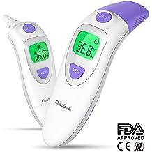 Termómetro Para Bebés, CocoBear Termómetro Digital, Frente y Oído 4 en 1 Termómetro Infrarrojo