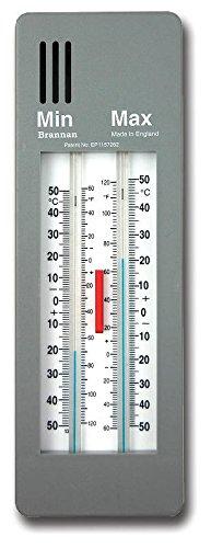 Thermometer zur Anzeige von Mindest- und Höchsttemperatur, für Garten Gewächshaus, Gewächsraum, Wintergarten